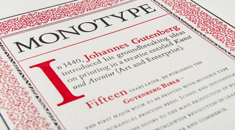 Monotype Brochure