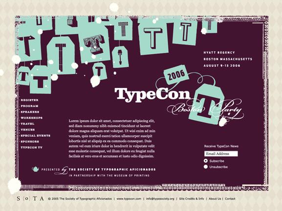 SOTA TypeCon splash page
