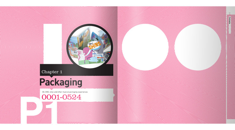 1000 Music Graphics packaging divider spread