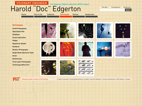 Edgerton Digital Collections techniques page