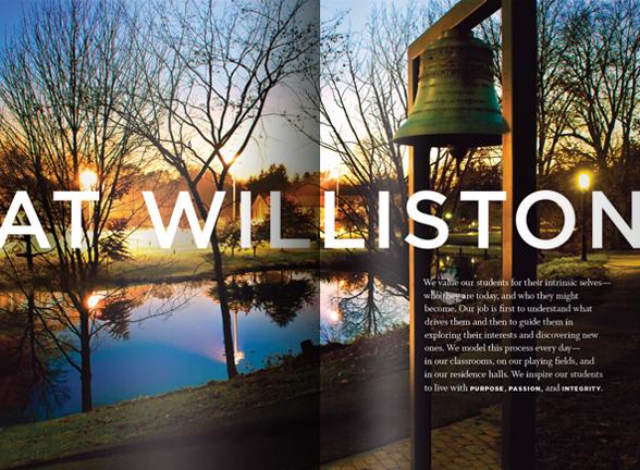 Williston viewbook spread 1