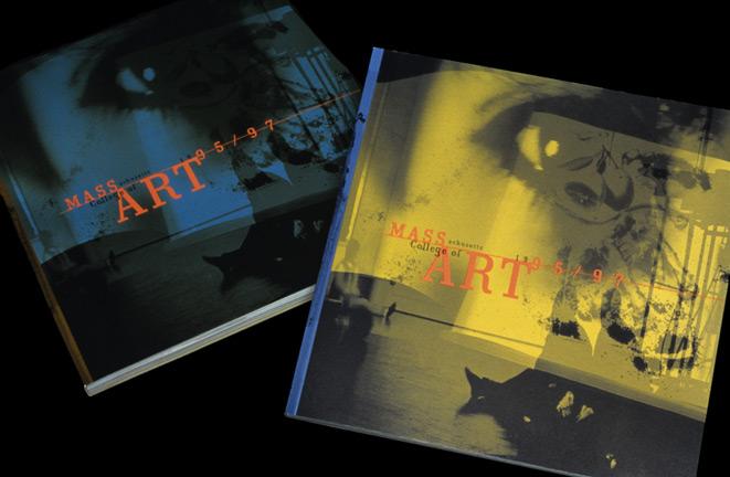 MassArt viewbook 1995-97 covers